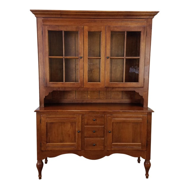 Ethan Allen Country Crossings China Cabinet For Sale