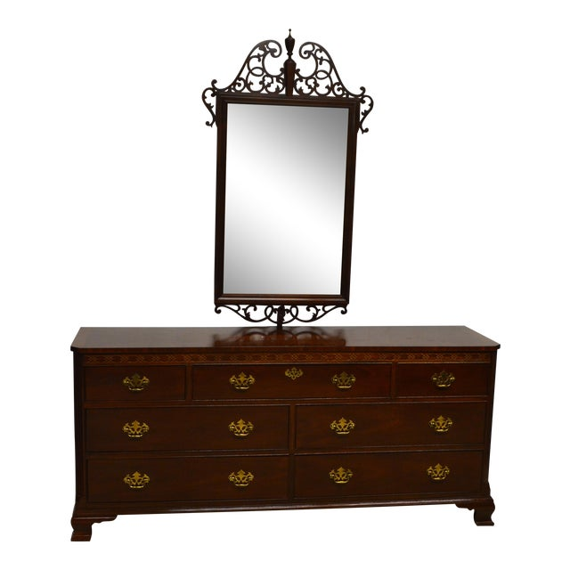 Triple Dresser With Mirror on Lexington Victorian Sampler