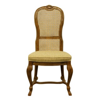 Drexel Heritage Italian Provincial Cane Back Dining Side Chair For Sale