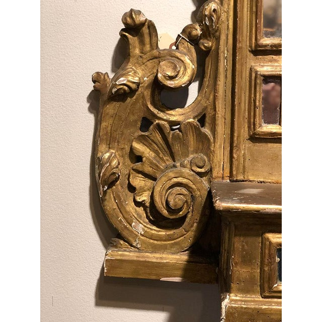 18th Century Alter Piece of Carved and Gilted Wood For Sale In Dallas - Image 6 of 7