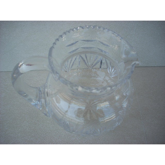 English Traditional Cut Crystal Water Pitcher For Sale - Image 3 of 3