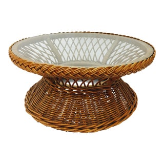 Woven Wicker Coffee Table