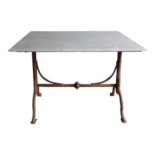 Square Marble Bistro Table For Sale