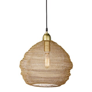 Copper Mesh Pendant from Kenneth Ludwig Home For Sale