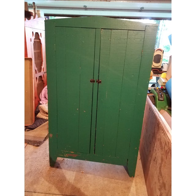 Antique Green Primitive Cupboard - Image 2 of 3
