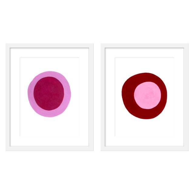 "Contemporary Medium ""Sunburn and Sorbet, a Pair"" Print by Neicy Frey, 34"" X 21"" For Sale - Image 3 of 3"