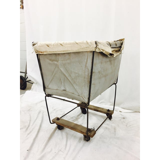 Vintage Laundry Cart Basket For Sale In Raleigh - Image 6 of 8