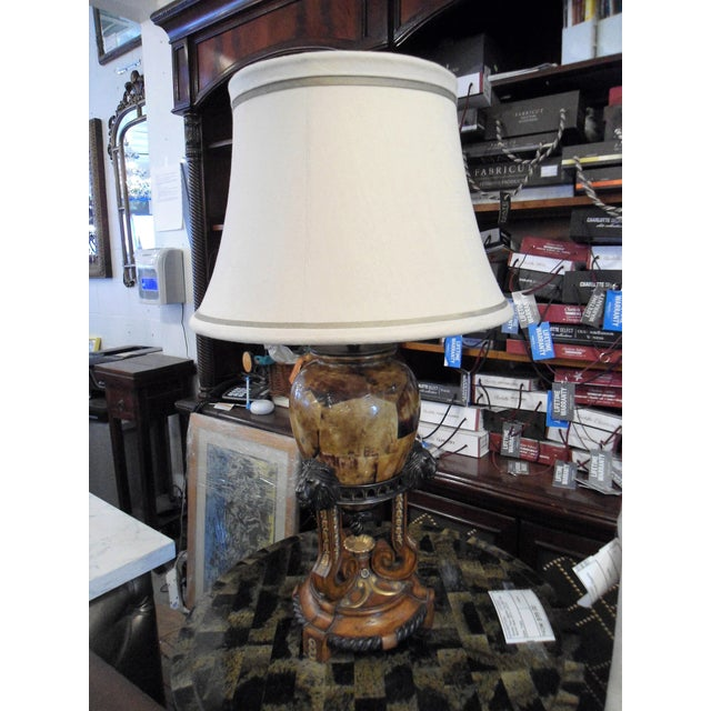 Maitland Smith Tortoise Shell Lamp For Sale - Image 11 of 11