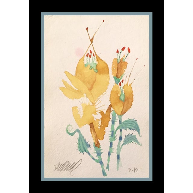 """Prickly Yellow Tulips"" Original Watercolor - Image 3 of 3"