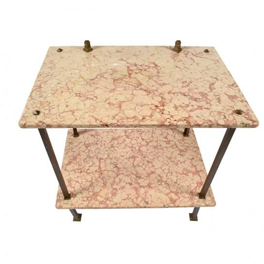 Art Deco 1920's Art Deco Marble and Brass Vanity For Sale - Image 3 of 9