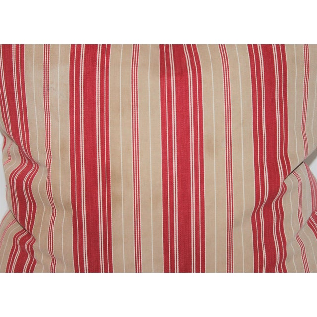 Red Striped Ticking Pillow - Image 4 of 5