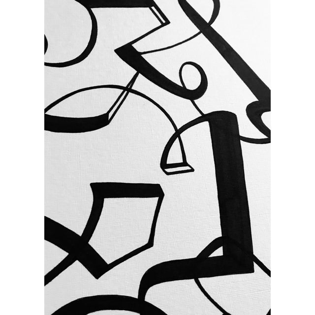 """Contemporary """"Line Dancing"""" Original Pen & Ink Drawing For Sale - Image 3 of 8"""