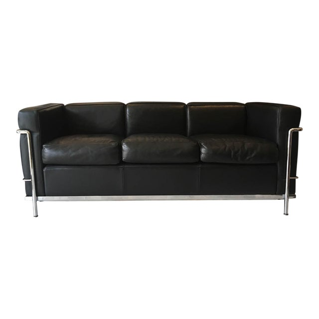 Lc2 Petit Modele Three-Seat Sofa Designed by Le Corbusier for Cassina For Sale
