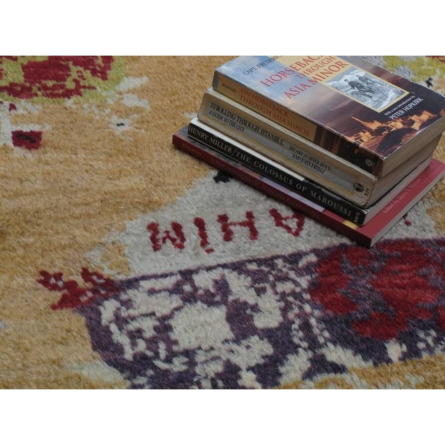 "Textile ""Five Bouquet"" Tulu Rug For Sale - Image 7 of 9"