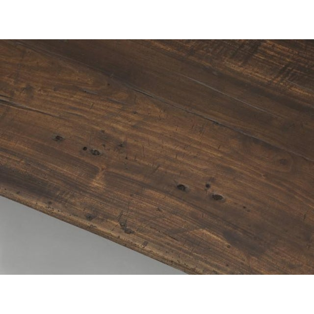 Antique French Rustic Industrial Work Table For Sale - Image 4 of 11