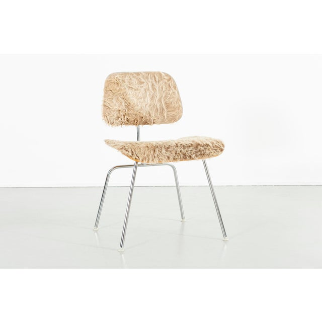 Herman Miller Eames for Herman Miller Dcm Chairs in Longhair Brazilian Cowhide For Sale - Image 4 of 13