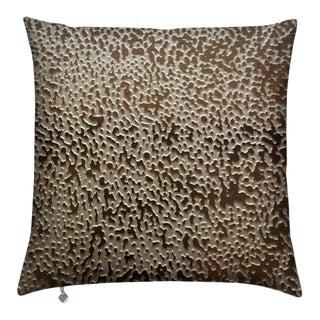 C.Heckscher Collection Decorative Throw Pillow - Sandy Nickel For Sale
