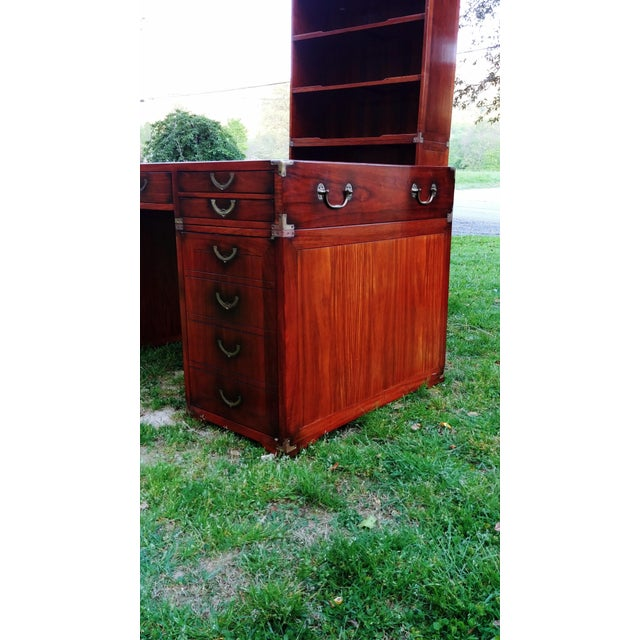 Traditional Starbay Rosewood Richelieu Leather Top Executive Desk For Sale - Image 10 of 13