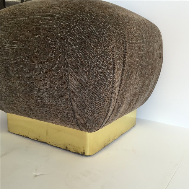 1970 Marge Carson Pouf with New Fabric - Image 7 of 8