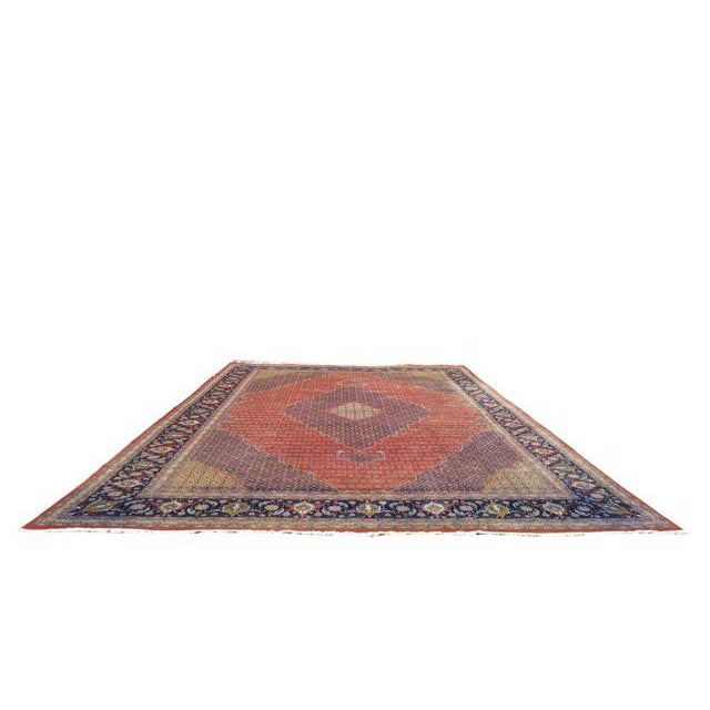 Traditional Hand Made Knotted Tabriz Mahi Design Rug - 12′9″ × 19′7″ - Size Cat. 12x18 13x20 - Image 2 of 4