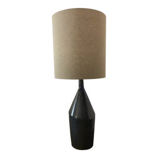 Assymetric Ceramic Table Lamp by West Elm with Shade For Sale