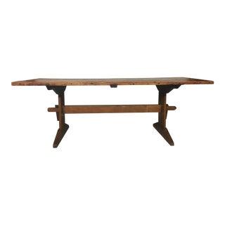 Swedish 19th Century Trestle Table