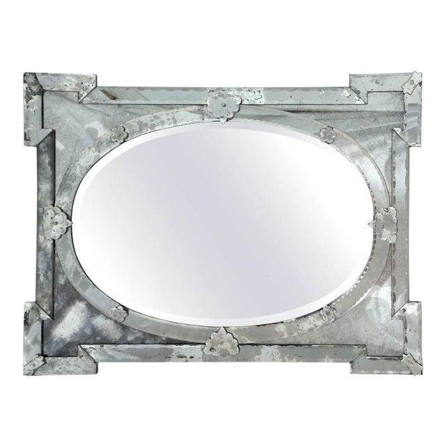 Hollywood Regency Venetian Mirror With Elegant Shield Design, 1940's For Sale