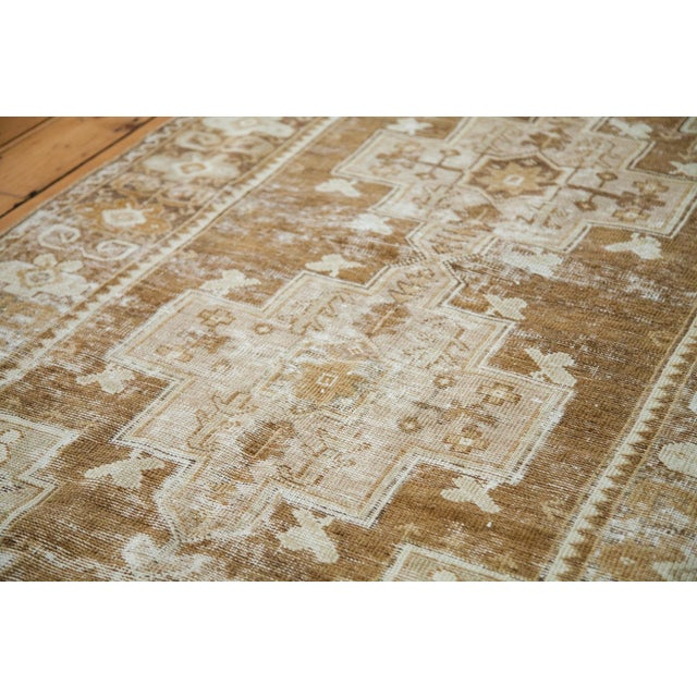 """Tan Distressed Oushak Rug Runner - 3'6"""" X 6'9"""" For Sale - Image 8 of 8"""