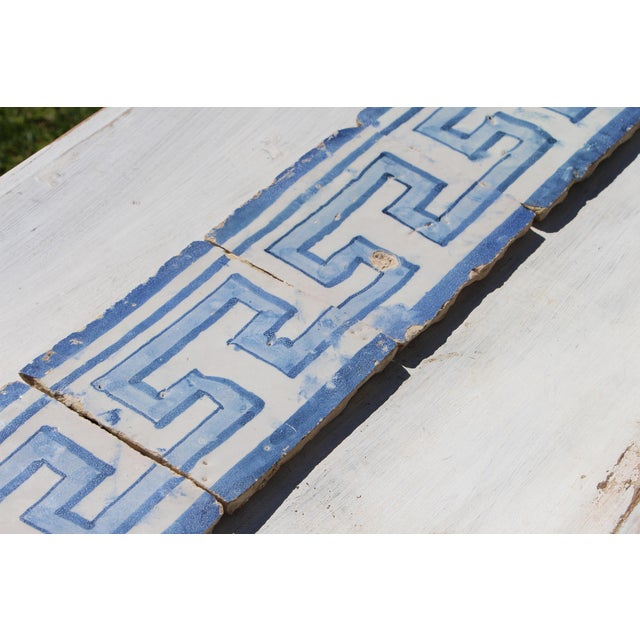 Ceramic 18th Century Greek Style Baroque Tiles - Set of 4 For Sale - Image 7 of 13