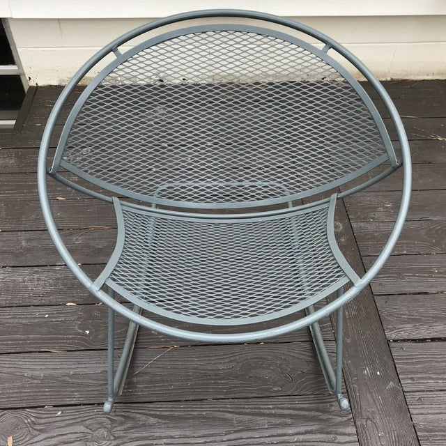 Metal Salterini Rocking Chairs, a Pair For Sale - Image 7 of 12