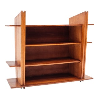 1920 Avant Garde Modernist Architectural Cabinet in Oak For Sale
