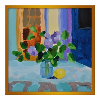 """Lilac With Lemon Ii"" by Anne Carrozza Remick, 20"" X 20"""