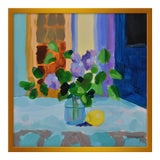 "Image of Small ""Lilac With Lemon"" Print by Anne Carrozza Remick, 20"" X 20"" For Sale"