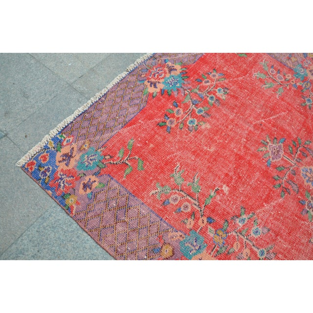 Antique Turkish Wool Rug - 5′10″ × 9′4″ For Sale In Austin - Image 6 of 6