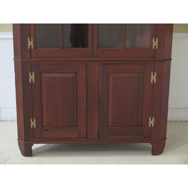 Antique Virginia Chippendale Walnut Corner Cabinet Age: Approx: 200 Years Old Details: Walnut Large Impressive Cabinet...