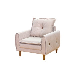 Miami Upholstered Oatmeal Armchair For Sale