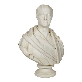 """Antique English """"Bust of a Gentleman"""" by Samuel Joseph (British, 1791-1850) For Sale"""