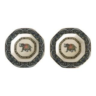 Wedgwood Octagonal Porcelain Plates - a Pair