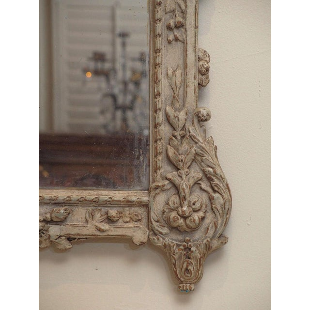 Mid 19th Century Painted Louis XVI Style Mirror For Sale - Image 5 of 8