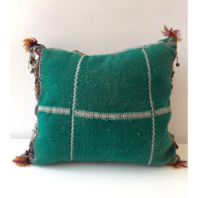 Moroccan Dhurrie Throw Pillow - Image 3 of 6