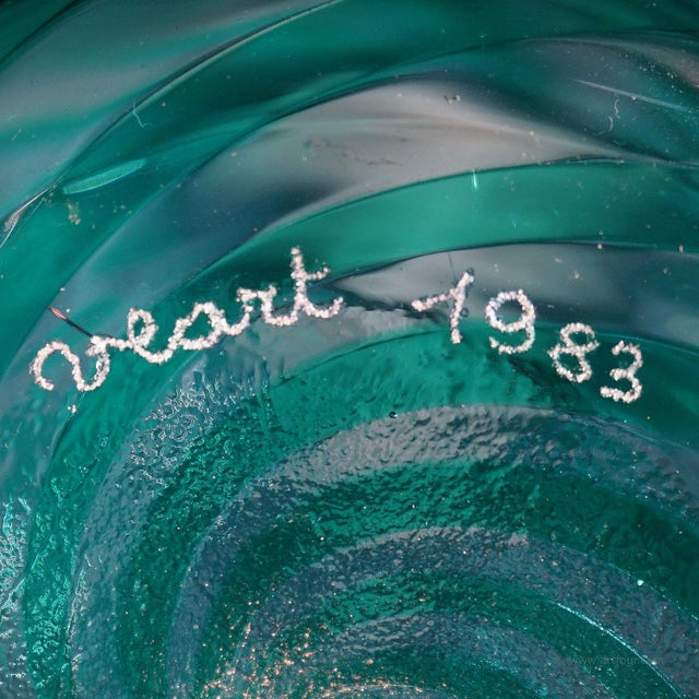 Glass A Lino Tagliapietra Attr. Vase for Veart Murano 1983 For Sale - Image 7 of 8
