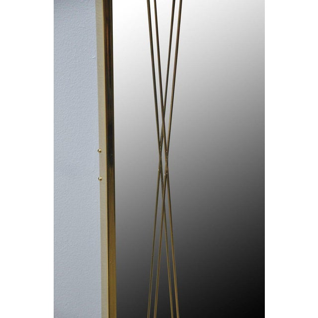 Mid-Century Modern Brass 'X' Mirror by Paul McCobb for Bryce Originals, 1956 For Sale - Image 3 of 7