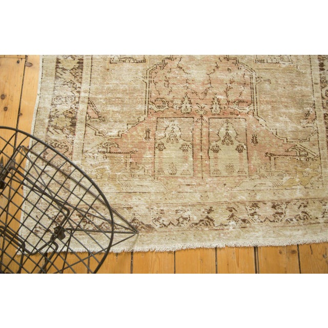 "Vintage Distressed Oushak Rug - 4' x 5'11"" - Image 4 of 10"