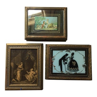 Gilded Wood Parisian Jewelry Boxes - Set of 3