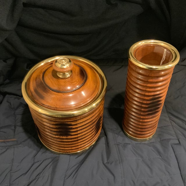 Valenti Ice Bucket and Vase - a Pair For Sale In Pittsburgh - Image 6 of 6
