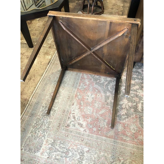 Vintage Mid Century Folding Card Table For Sale - Image 4 of 13