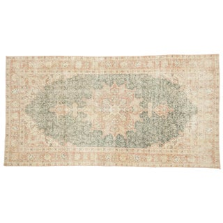 "Distressed Oushak Rug - 3'8"" X 7'1"" For Sale"