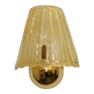 Late 20th Century Mid-Century Modern Murano Hand Cast Glass Wall Lamp For Sale