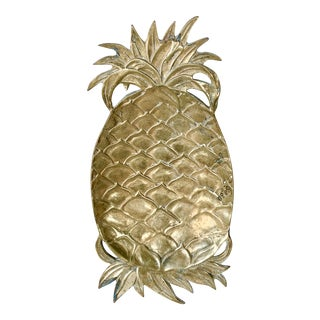 Vintage Brass Pineapple Catchall For Sale