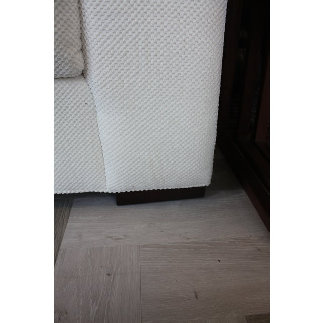 2010s Contemporary Century Furniture White Fabric Sofa For Sale - Image 5 of 7